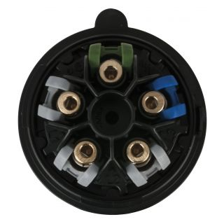 1 PCE - CEE 16A 400V 5p Plug Female - Nero, Turbo |Twist, IP44