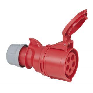 0 PCE - CEE 32A 400V 5p Plug Female - Rosso, IP44