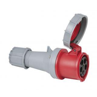 0 PCE - CEE 63A 400V 5p Plug Female - Rosso, IP67