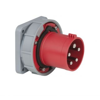 0 PCE - CEE 63A 400V 5p Socket Male - Rosso, IP67