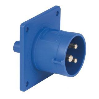 0 Showtec - CEE 16A 240V 3p Socket Male - Blu, IP44
