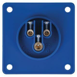 1 Showtec - CEE 16A 240V 3p Socket Male - Blu, IP44