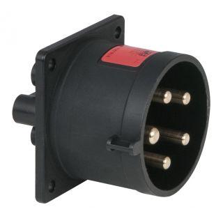 0 PCE - CEE 32A 400V 5p Socket Male - Nero, IP44
