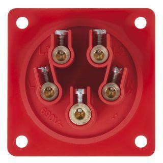 3 PCE - CEE 32A 400V 5p Socket Male - Nero, IP44