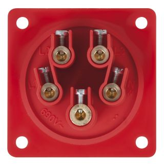 1 PCE - CEE 32A 400V 5p Socket Male - Rosso, IP44