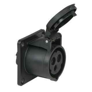 0 Showtec - CEE 16A 240V 3p Socket Female - Nero, IP44