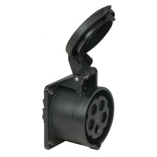0 PCE - CEE 16A 400V 5p Socket Female - Nero, IP44