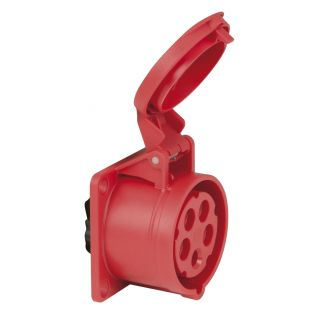 0 PCE - CEE 16A 400V 5p Socket Female - Rosso, IP44