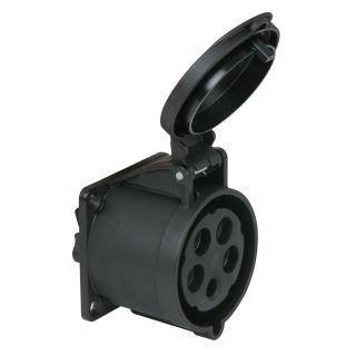 0 PCE - CEE 32A 400V 5p Socket Female - Nero, IP44