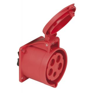 0 PCE - CEE 32A 400V 5p Socket Female - Rosso, IP44