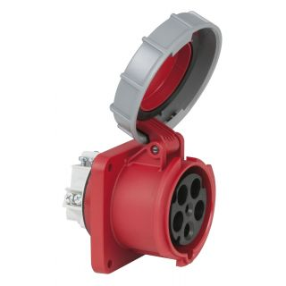 0 PCE - CEE 63A 400V 5p Socket Female - Rosso, IP67