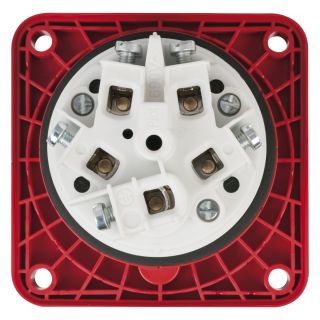 1 PCE - CEE 63A 400V 5p Socket Female - Rosso, IP67