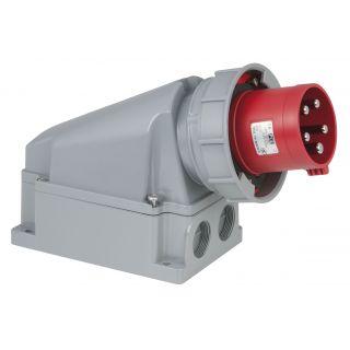 0 PCE - CEE 63A 400V 5p Wallmount Male - Rosso, IP67