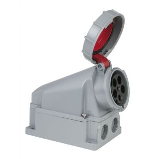 0 PCE - CEE 63A 400V 5p Wallmount Female - Rosso, IP67