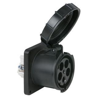 0 PCE - CEE 125A 400V 5p Socket Female - Nero, IP67