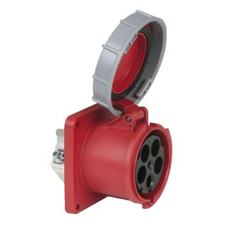 0 PCE - CEE 125A 400V 5p Socket Female - Rosso, IP67
