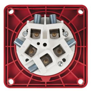1 PCE - CEE 125A 400V 5p Socket Female - Rosso, IP67