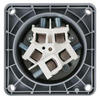 5 PCE - CEE 125A 400V 5p Socket Female - Nero, IP67