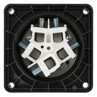 7 PCE - CEE 125A 400V 5p Socket Female - Nero, IP67