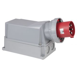0 PCE - CEE 125A 400V 5p Wallmount Male - Rosso, IP67