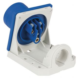 1 Showtec - CEE 16A 240V 3p Wallmount Male - Blu, IP44