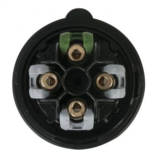 1 PCE - CEE 16A 400V 4p Plug Male - Nero, Turbo Twist, IP44