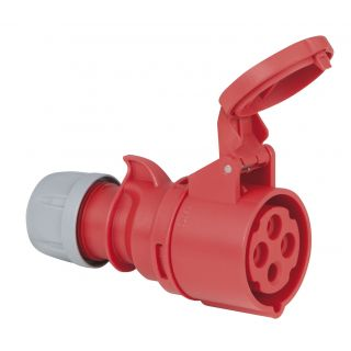 0 PCE - CEE 16A 400V 4p Plug Female - Rosso, IP44