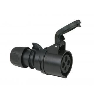 0 PCE - CEE 16A 400V 4p Plug Female - Nero, IP44