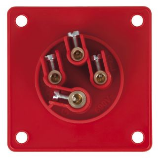 1 PCE - CEE 16A 400V 4p Socket Male - Rosso, IP44