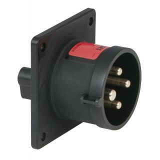 0 PCE - CEE 16A 400V 4p Socket Male - Nero, IP44