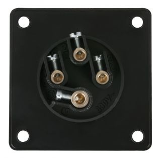 1 PCE - CEE 16A 400V 4p Socket Male - Nero, IP44