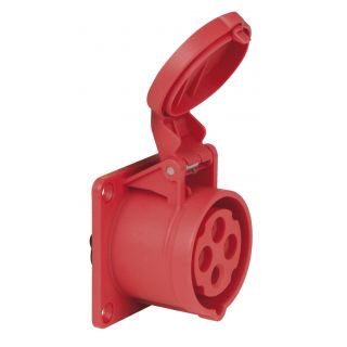 0 PCE - CEE 16A 400V 4p Socket Female - Rosso, IP44
