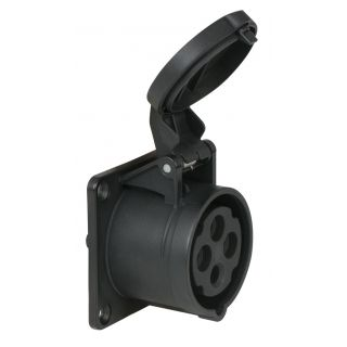 0 PCE - CEE 16A 400V 4p Socket Female - Nero, IP44