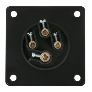 1 PCE - CEE 16A 400V 4p Socket Female - Nero, IP44