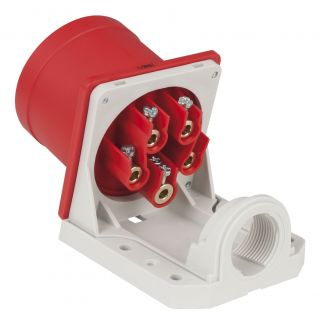1 PCE - CEE 16A 400V 5p Wallmount Male - Rosso, IP44