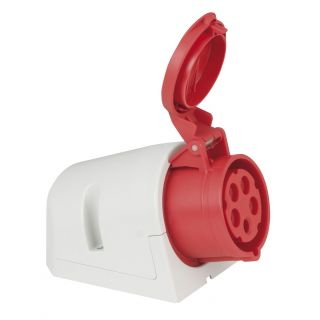 0 PCE - CEE 16A 400V 5p Wallmount Female - Rosso, IP44
