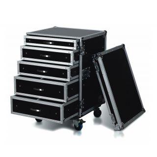 ROAD READY RRD16U1C - Case per Rack con 5 Casetti