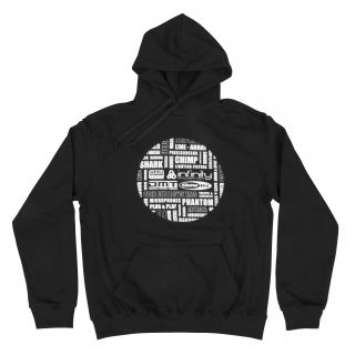 0 Highlite - Hoodie Tag Cloud - L