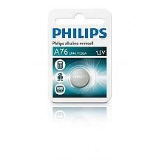 1 PHILIPS - Minicell Batteria Alcalina A76