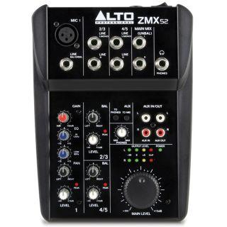 Alto Professional ZMX52 - Mixer Audio Passivo 3Ch per Live Karaoke