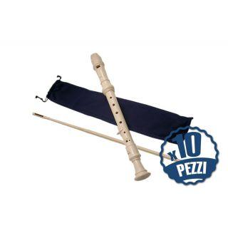 AULOS 302A Elite - 10 Flauti Dolci in DO Bundle Speciale Scuola
