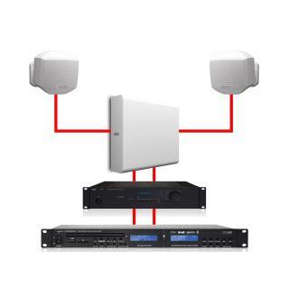 APART Sistema Audio Stereo 2 MASK2 White / 1 SUBLIME White 260W11