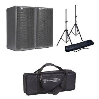 DB TECHNOLOGIES Coppia OPERA 10 Speaker Amplificato 1200W con Stativi e Borsa in Omaggio