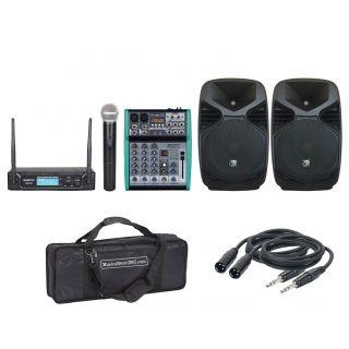 ZZIPP ZZPX08 (Coppia) con Mixer 4Ch/Radiomicrofono/Cavo/Borsa