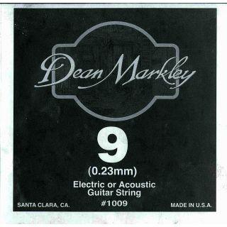 0 DEAN MARKLEY - Corda singola per Chitarra Elettrica Plain Steel, .009