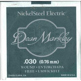 0 DEAN MARKLEY - Corda singola per Chitarra Elettrica Nickel Wound, .030