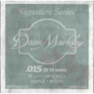 1 DEAN MARKLEY - Corda singola per Chitarra Elettrica Plain Steel, .015