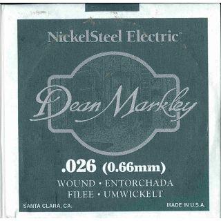 0 DEAN MARKLEY - Corda singola per Chitarra Elettrica Nickel Wound, .026