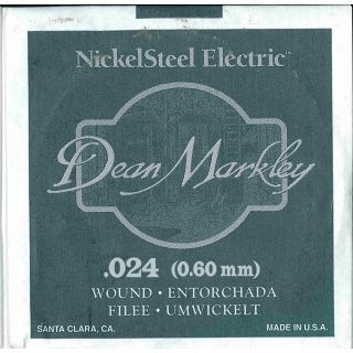 0 DEAN MARKLEY - Corda singola per Chitarra Elettrica Nickel Wound, .024