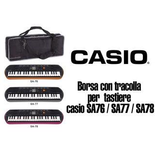 Borsa casio KeyBag per tastiera con tracolla e tasaca porta Libri per Tastiere CASIO SA 77 / 78 e Tastiere MEDELI MC37A